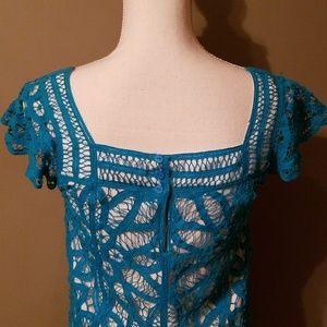 Betsey Johnson Dresses - Blue Capped Sleeve Betsy Johnson Dress